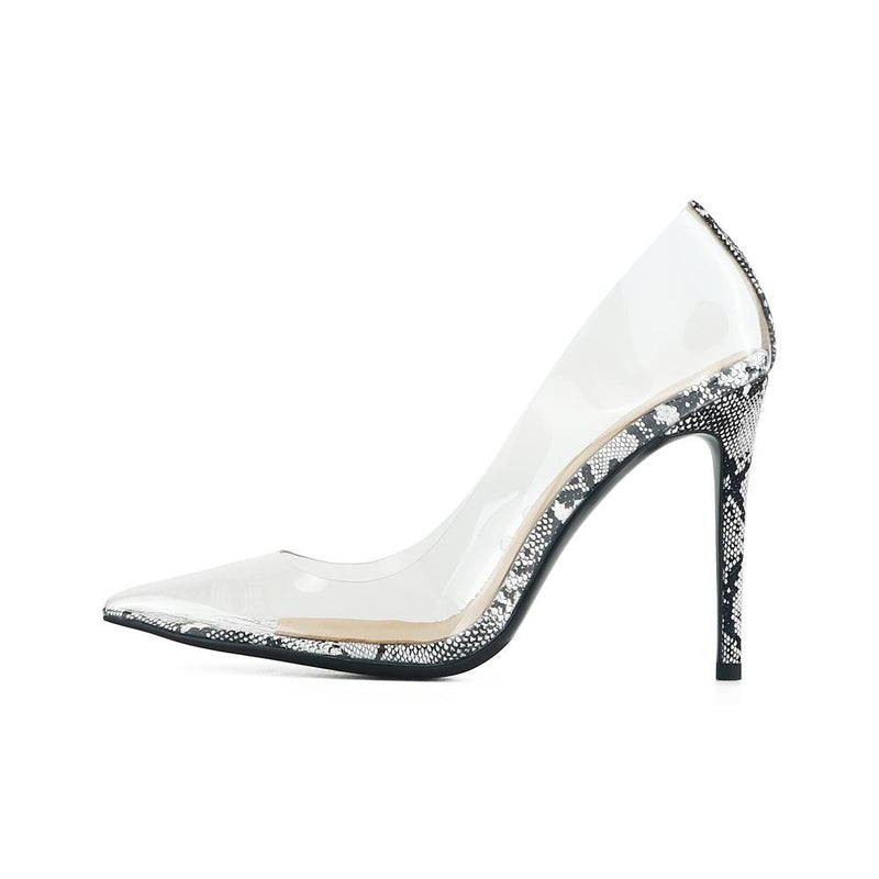 Valentina Snake Print Leather Pumps