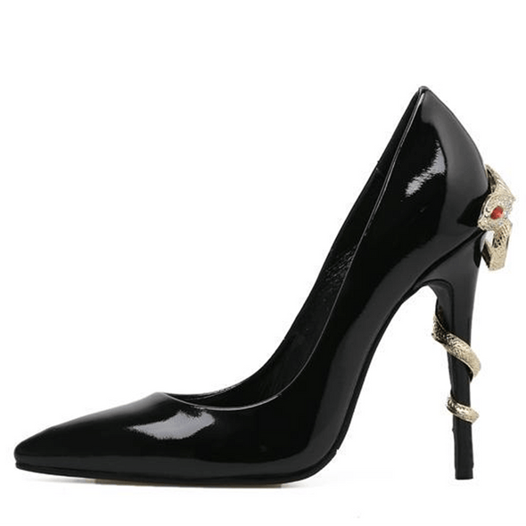 Melrose Black Patent Leather Pumps
