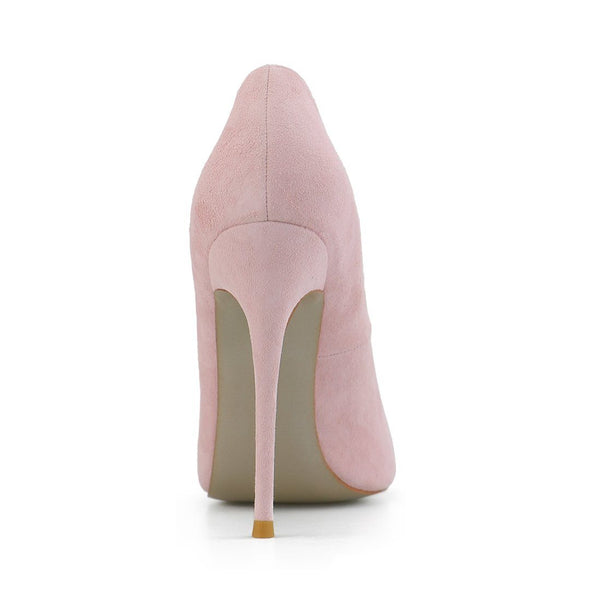 Leah Pink Suede Leather Pumps