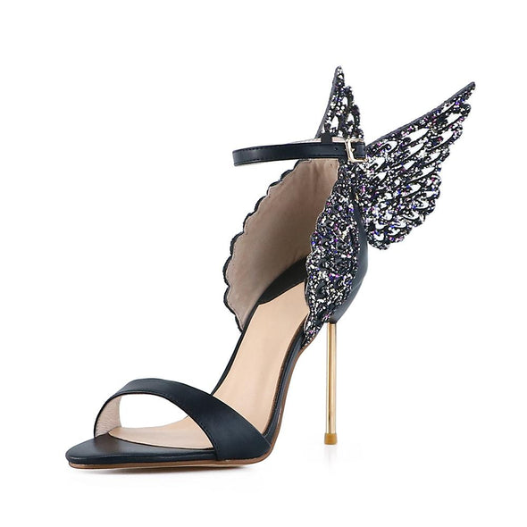 Angel Black Wings Sandals