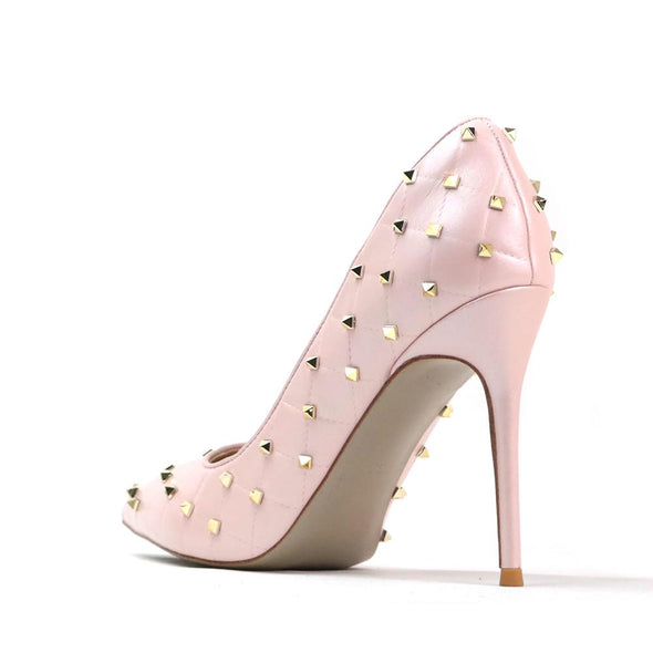 Angelica Pink Leather Pumps