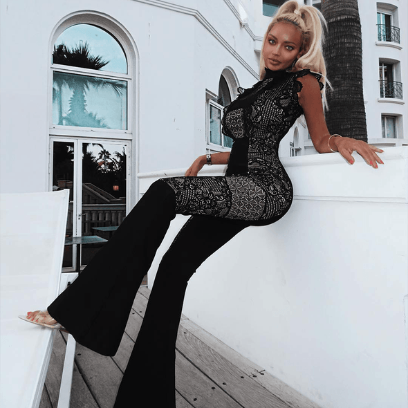 Shelly Black Jumpsuit