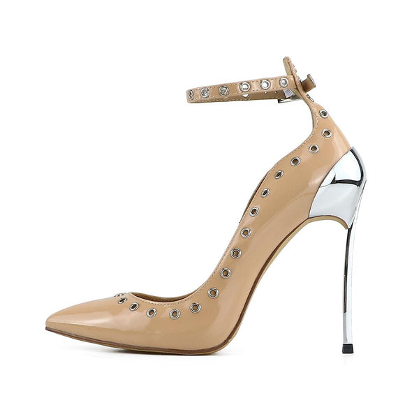 Chiara Tan Leather Pumps