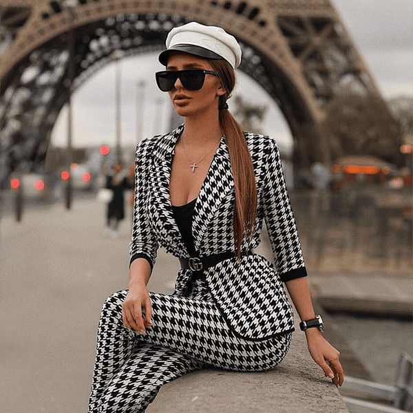 Agnes Houndstooth Two Piece Set