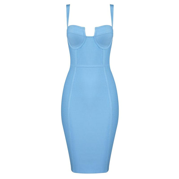 Marcia Blue Bandage Midi Dress