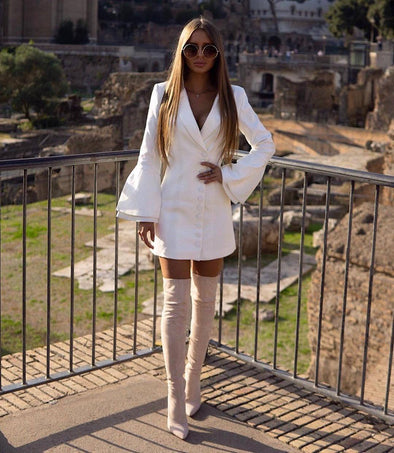 Elaine White Blazer Dress