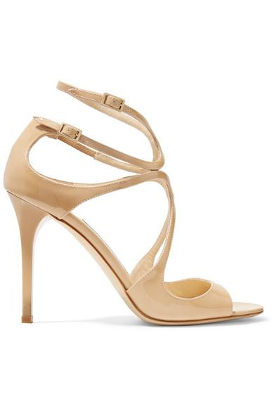Mac Nude Patent Leather Sandals