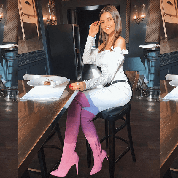 Gianna Pink Suede Leather Boots