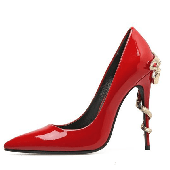 Melrose Red Patent Leather Pumps