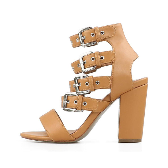 Tina Tan Leather Sandals