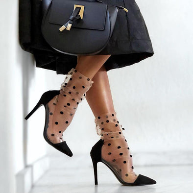 Leesh Black Suede Leather Pumps