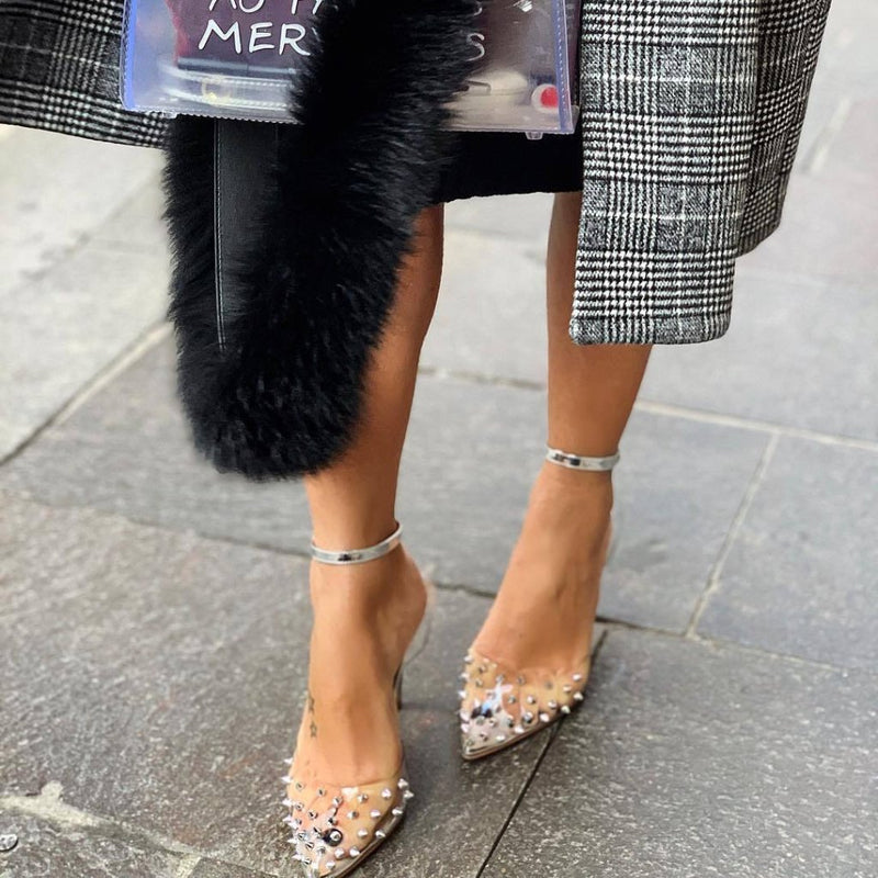 Olly Silver Leather Pumps