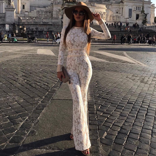 Lacey White Jumpsuit