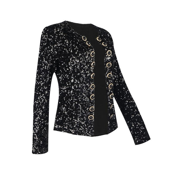 Missy Black Sequin Jacket