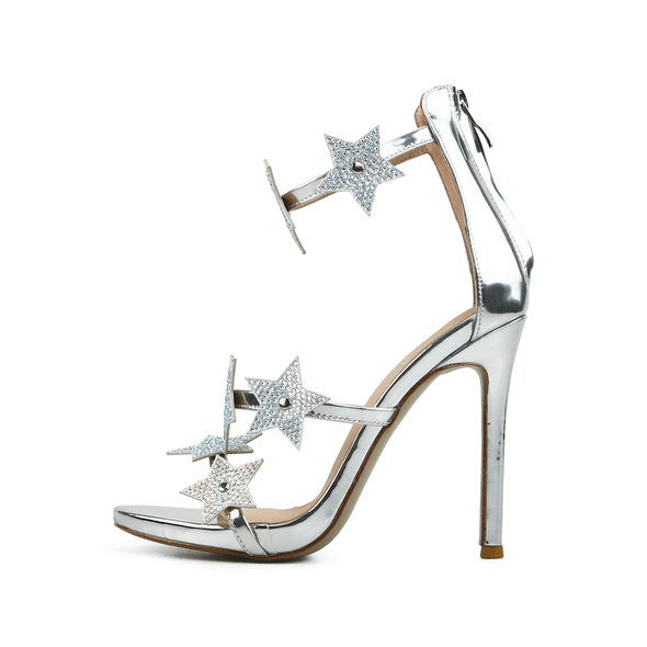 Starla Silver Leather Sandals