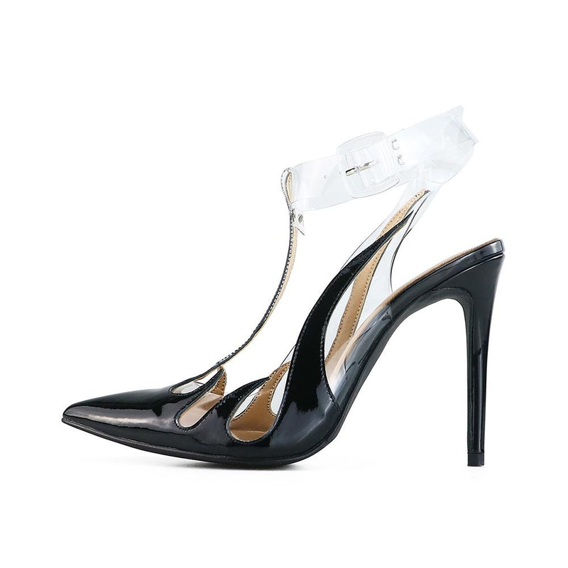 Fox Black Patent Leather Pumps