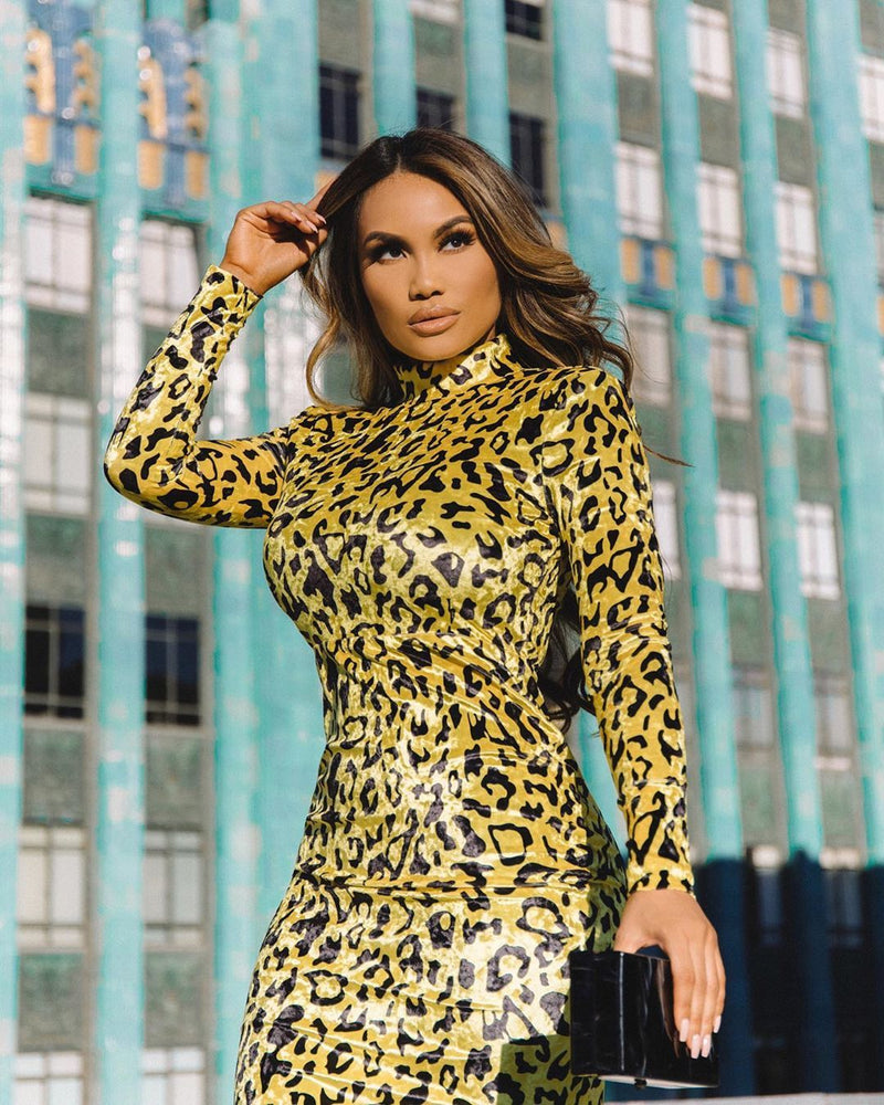 Crystal Leopard Dress