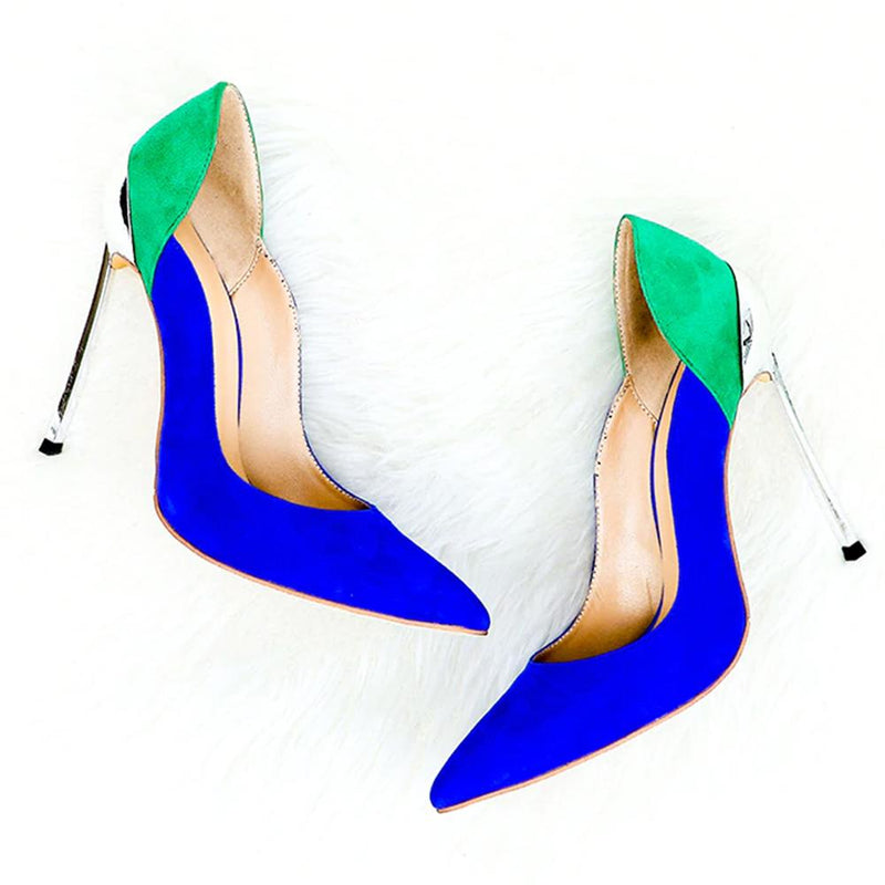 Cassidy Green & Blue Suede Leather Pumps