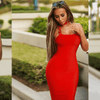 Gen Red Midi Dress