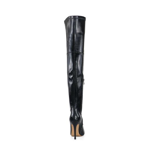 Chapman Black Patent Leather Boots