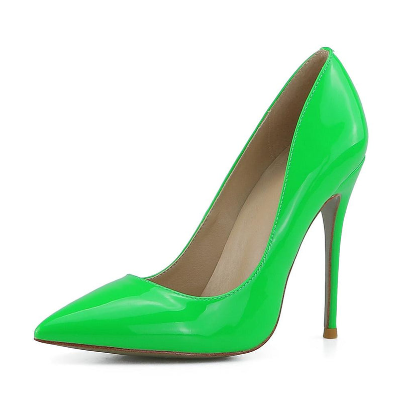 Leah Neon Green Patent Leather Pumps
