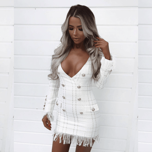 Lika White Mini Dress