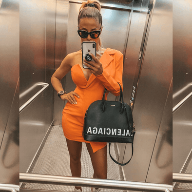 Jessica Orange Mini Dress