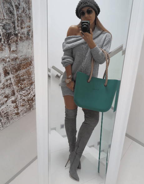 Natalia Grey Suede Leather Fringe Boots