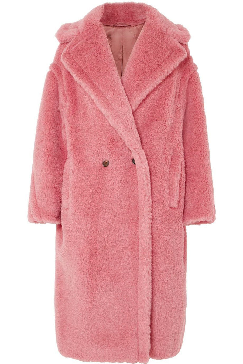 Camila Pink Faux Fur Teddy Coat