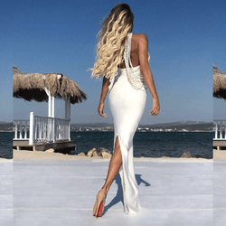 Annabelle White Bandage Maxi Dress (Limited Stock)