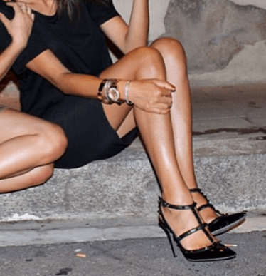 Daniella Black On Black Patent Pumps
