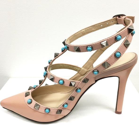 Danni Pink Leather Pumps
