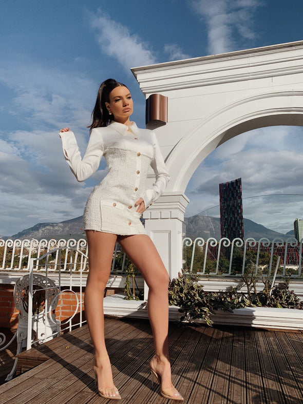 Alissa White Mini Dress - LIMITED STOCK