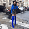Gianna Blue Suede Boots