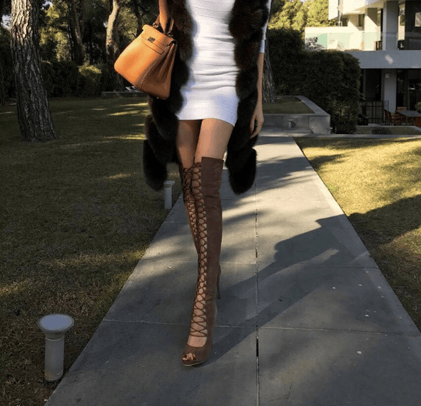Arti Tan Suede Leather Boots