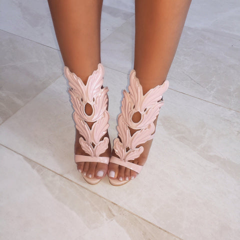 Lelani Nude Leather Sandals