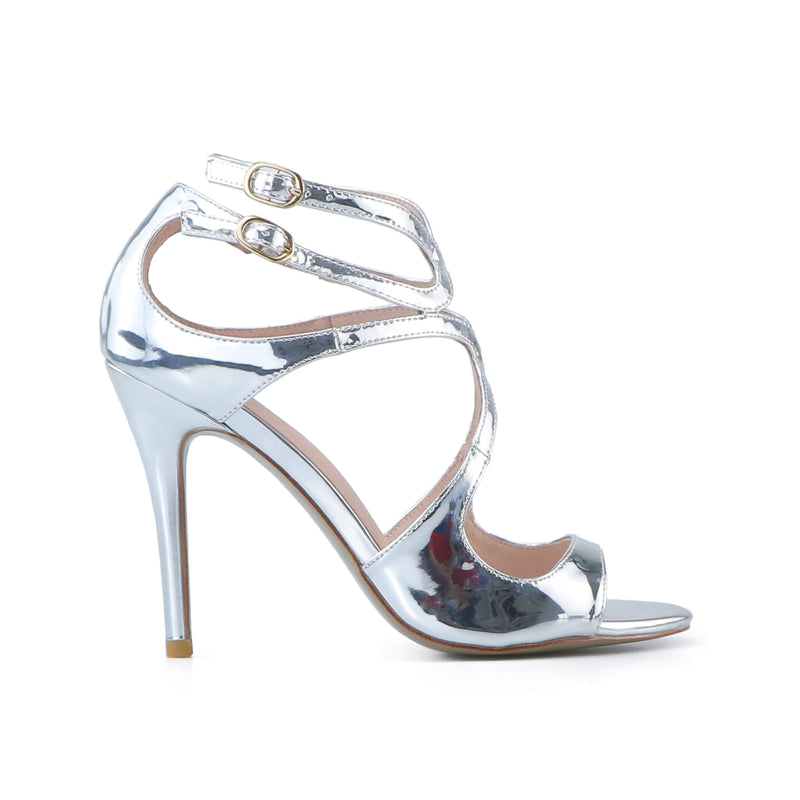 Mac Silver Leather Sandals
