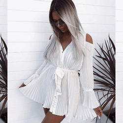 Mason Pleated Mini Dress