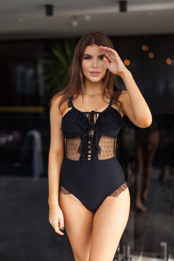 Lauren Lace Detail Swimsuit