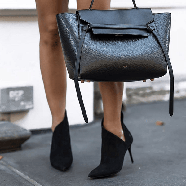 Analia Black Suede Booties