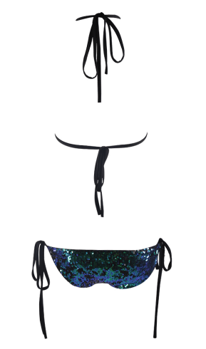 Mishii Sequined Blue & Black Bikini