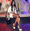 Chyna White Platform Pumps