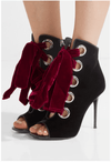 Paula Black Lace Up Ankle Boots