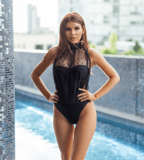 Liezl Tie Neck Swimsuit