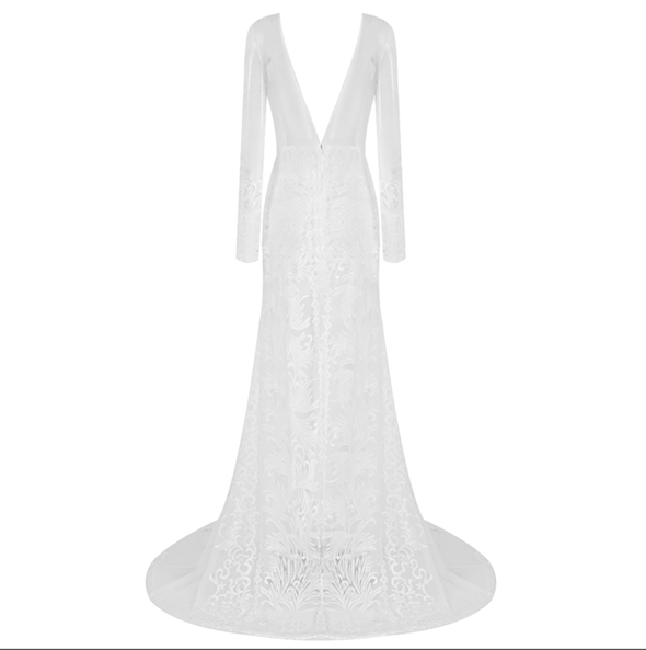 Sidney White Lace Maxi Dress