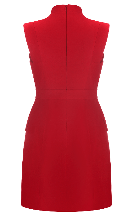 Polly Red Mini Blazer Dress