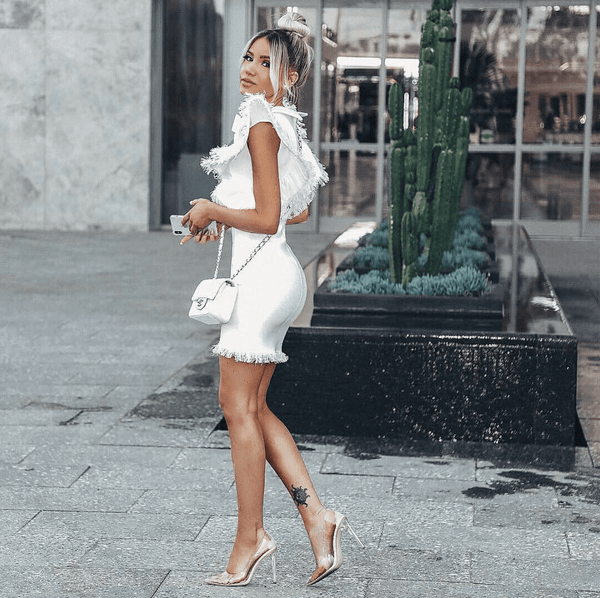 Mandi White Mini Dress