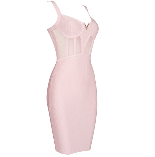 Chloe Pink Bandage Mimi Dress