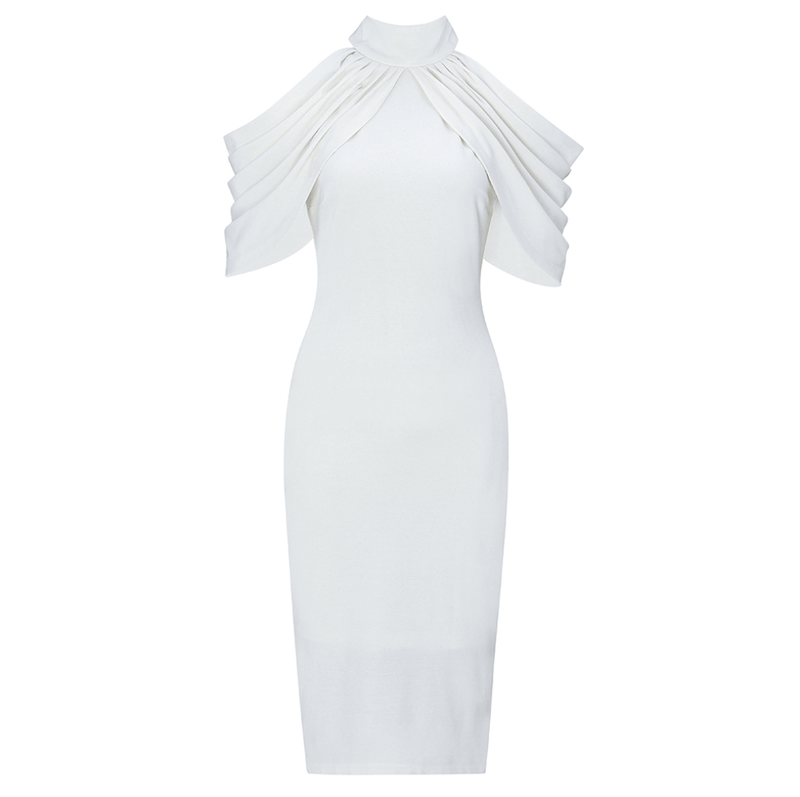 Celina White Bandage Midi Dress
