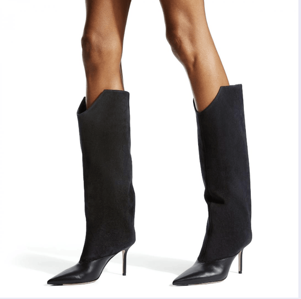 Larissa Black Knee High Boots